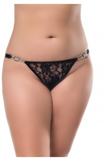 Tanga Plus Size Con Aplique Lateral