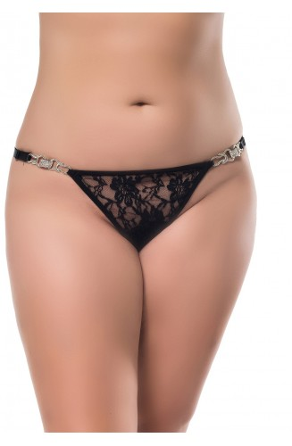 Tanga Plus Sze Con Strass Laterales